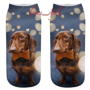 DACHSHUND SOCKS 3D NOVELTY DOG PUPPY DOXIE